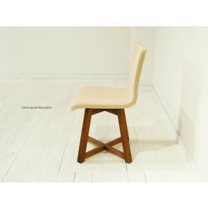 ダイニングチェア 回転椅子 天然木 木製 レザー ファブリック 北欧 合皮 布地  回転チェア 食卓イス 食卓椅子  TORINO Round Chair|i-company|04
