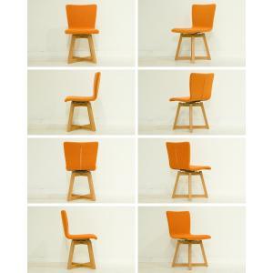 ダイニングチェア 回転椅子 天然木 木製 レザー ファブリック 北欧 合皮 布地  回転チェア 食卓イス 食卓椅子  TORINO Round Chair|i-company|06