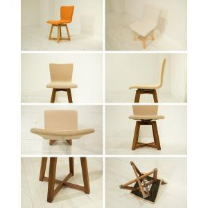 ダイニングチェア 回転椅子 天然木 木製 レザー ファブリック 北欧 合皮 布地  回転チェア 食卓イス 食卓椅子  TORINO Round Chair|i-company|07