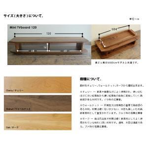 テレビ台 テレビボード ローボード 完成品 北欧 無垢 ウォールナット 木製 120  国産 日本製 Mini120|i-company|02