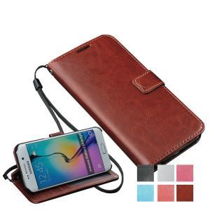 【在庫一掃セール】 GalaxyS6 ケース 手帳型 カバー レザー GalaxyS6edge 横開き スマホケース お財布 シンプル おしゃれ カード|i-concept