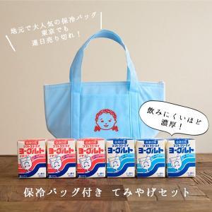 会津中央乳業べこの乳 会津の雪 ソフトクリーミィヨーグルトプレーン&いちご6個セット 保冷バッグ付の手土産セット|i-crtshop