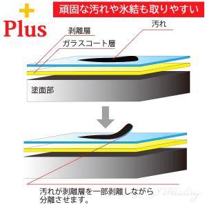 ロクマルコート プラス 車ガラスコーティング剤 泥 雪 氷 剥離剤PLUS タオルセット 大容量650ml 日本製 i-healing 03