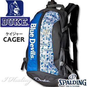 DUKE ケイジャー 壁画グラフィティ ブルー バスケットボール用バッグ デューク バックパック リュック スポルディング40-007DKG|i-healing