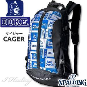DUKE LOGO ケイジャー ロゴ ブルー バスケットボール用バッグ デューク バックパック リュック スポルディング40-007DKB|i-healing