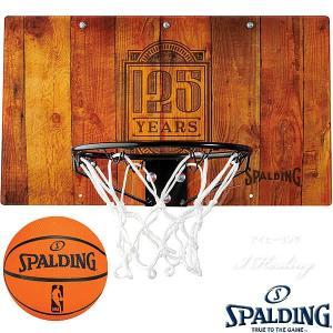 SPALDING ドア用バスケットゴール 125周年スラムジャム バックボード インテリア 木目調 バスケットボール ポリカーボネイト 室内 設置 スポルディング56109CN|i-healing