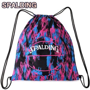 SPALDING ナップサック マーブルピンク 33L スポーツ ジムサック バスケ バッグ スポルディング SAK005MBL MARBLE PINK|i-healing