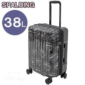 SPALDING バスケットボール スーツケース ダブルホイールキャリー 38L ブラック 機内持ち込み可 8輪キャリーケース スポルディング SP-0803-48 i-healing