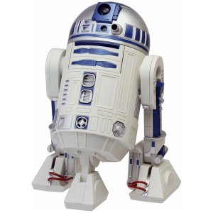 R2-D2 アクションクロック スターウォーズ 音声 目覚し時計 ブルー色 8ZDA21BZ03 リズム時計