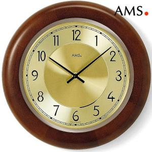 掛け時計AMS9063ウォールナット1 アムス社ドイツ製|i-healing