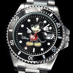 ミッキー ダイヤモンドマリーナ ダイバーズ腕時計...