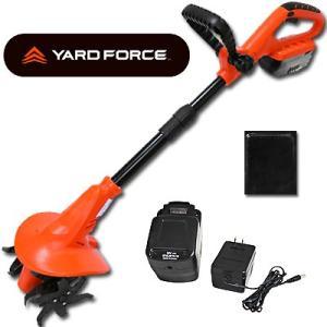コードレス 充電式ハイパワー耕運機 家庭用 ヤードフォース 充電池2個セット