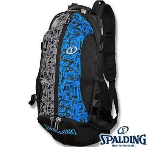 SPALDINGケイジャー グラフィティブルー バスケットボールバッグ バスケ収納カバン スポルディング40-007GB|i-healing