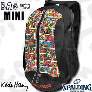 SPALDINGケイジャーミニ キースヘリング リュック フレーム バスケットボールバッグ バスケ収納カバン スポルディング40-004KHFR|i-healing