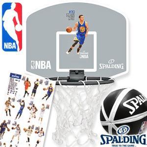 スポルディング 選手シール付NBAバスケットゴール 壁掛け室内用 ミニビニールボールセット 77-644Z|i-healing