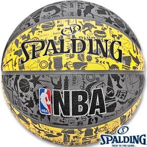 スポルディング バスケットボール7号グラフィティ壁画柄 イエロー ラバー SPALDING83-307Z