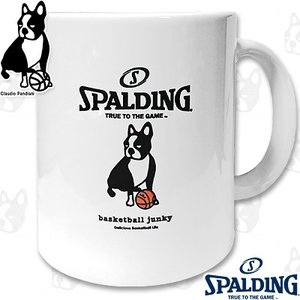 basketball junkyスポルディング犬 楽しいスポーツ犬パンディアーニ君 バスケットボール マグカップ SPALDING BSK16212|i-healing