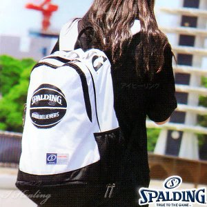 SPALDINGライズ ボール ホワイト バッグ バスケットボール バックパック リュック スポルディング40-018BWH|i-healing