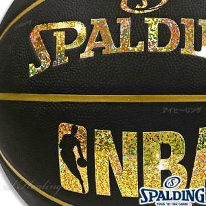 スポルディング バスケットボール7号 キラキラ ホログラム コンポジット ブラックゴールド 合成皮革 SPALDING76-161J|i-healing|02