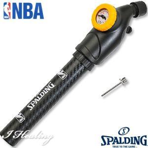 SPALDING NBA 空気圧ゲージ付 バスケットボール空気入れ デュアルアクションポンプ スポルディング8485SCN|i-healing