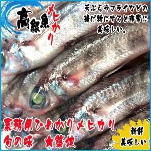 旬の魚 メヒカリ 1kg  天ぷらやフライなどの揚げ物にすると非常に美味しい。揚げてから甘酢をかけた...