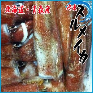 【業務用】冷凍スルメイカ1箱 約8kg23-25北海道・青森産 するめいか 烏賊 i-ichiba