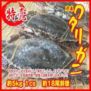 お歳暮) 冷凍ワタリガニ 約5kg   1cs  約18尾前後    渡り蟹 カニ 蟹|i-ichiba