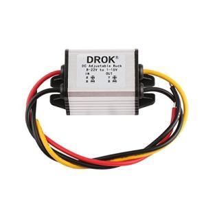 DROK dcdcコンバーター 8-22V?1-15V 5V 12V 3A 降圧モジュール 電圧レギュレータ 安定器 防水 可変出力電源 変圧器|i-labo