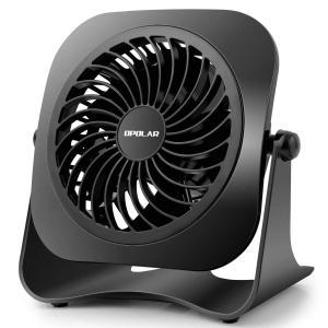 OPOLAR ミニUSB卓上扇風機 2段階風量調節 上下360°調節可能 パワフル 静音 コンパクト...