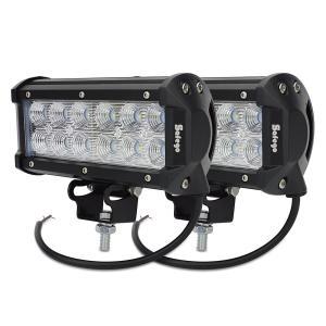 Safego 36W LED 作業灯/ワークライト 高輝度 広角タイプ 12連LED 車外灯 農業機械 ホワイト 6000K 12V-24V対応 C3|i-labo
