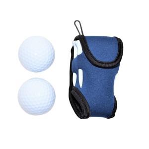 ゴルフボールケース World Bridge ゴルフポーチ ゴルフボールケース 2個収納 ゴルフボー...