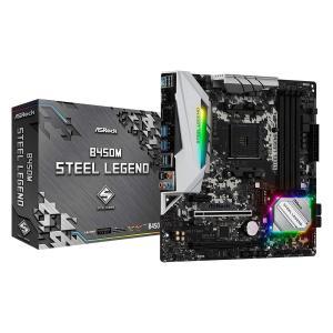 ASRock AMD Ryzen AM4 対応 B450 チップセット搭載 MicroATX マザー...
