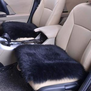 SUSUQI シートクッション カーウールクッション 座布団 カーシート 柔らかい 暖かい ウール ...