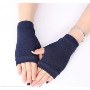 「クリスマスギフト」手袋 指なし コットン ハンドウォーマー アームウォーマ 長め 冷え症 冷え取り...