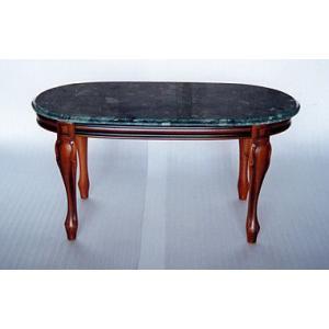イタリア製 組み立て式 大理石センターテーブル グリーン|i-matsumoto