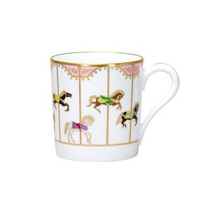 大倉陶園 うまくゆくシリーズ 回転木馬 マグカップ(ピンク) OKURA i-matsumoto