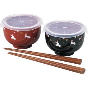 レンジOK シール付レンジ汁碗ペア 花あそび i-matsumoto