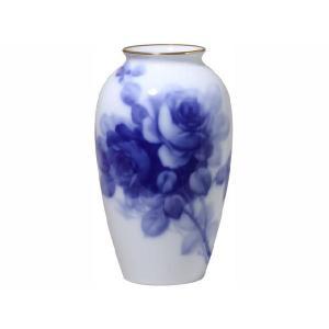 大倉陶園 ブルーローズ 23cm花器|i-matsumoto