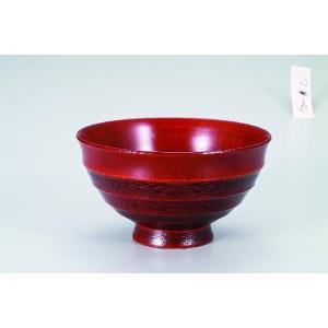 木製4.0飯碗  漆紅 桜 宮常作 i-matsumoto