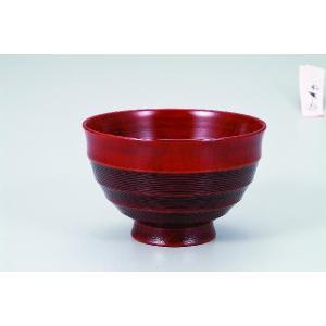 木製3.6汁碗  漆紅 桜 宮常作 i-matsumoto
