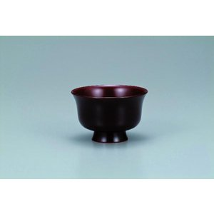 木製汁碗  羽反型 桜 溜内朱 宮常作 i-matsumoto