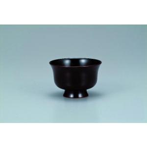 木製汁碗  羽反型 桜 溜内黒 宮常作 i-matsumoto