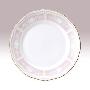 ノリタケ 食器  レースウッドゴールド 18cmプレート(ピンク)|i-matsumoto