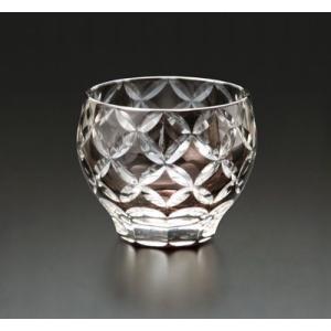 切子ガラス 酒カップ ダイヤリング ブラック|i-matsumoto