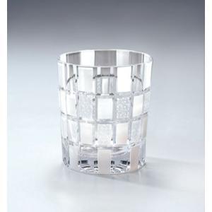 切子ガラス ロックグラス 刺子市松 ホワイト|i-matsumoto