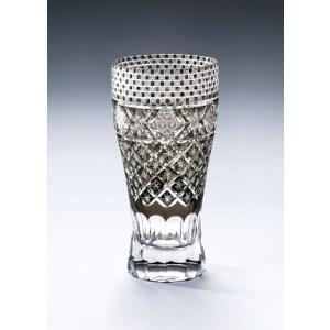 切子ガラス ロングビアグラス メテオBブラック|i-matsumoto