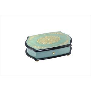 日本限定100台 リュージュオルゴール72弁幸せの青い小箱 ブルーボックス エスプリ REUGE|i-matsumoto