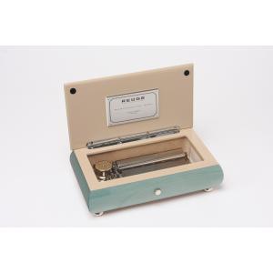 リュージュオルゴール 日本国内限定100台 幸せの青い小箱72弁3曲 Opaline i-matsumoto
