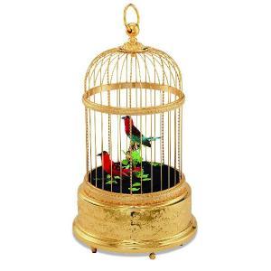 リュージュオルゴール シンギングバード 鳥かご(金メッキ)|i-matsumoto