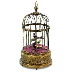 リュージュオルゴール シンギングバード 鳥かご(アンティーク調)|i-matsumoto
